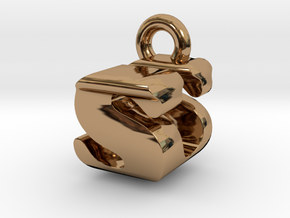 3D Monogram - SUF1 in Polished Brass
