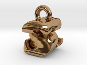 3D Monogram - SZF1 in Polished Brass