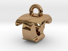 3D Monogram - TGF1 in Polished Brass