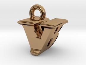 3D Monogram - VBF1 in Polished Brass