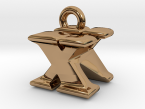 3D Monogram - XNF1 in Polished Brass