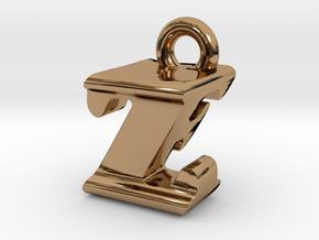 3D Monogram - ZFF1 in Polished Brass