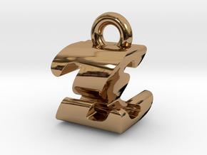 3D Monogram - ZSF1 in Polished Brass