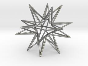 Icosahedron Star in Natural Silver