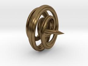 Mobius Spiral Tie Tack Pin in Natural Bronze