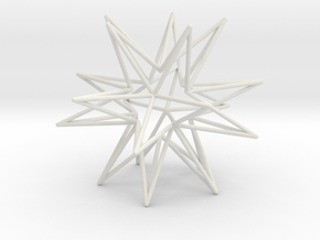Icosahedron Star in White Natural Versatile Plastic