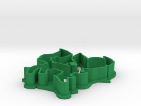 Leafeon Cookie Cutter in Green Processed Versatile Plastic