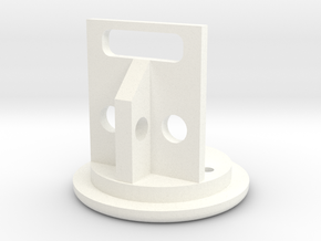 Bezel to hold your Micro usb charger or data port  in White Processed Versatile Plastic