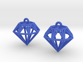 Diamond Earrings in Blue Strong & Flexible Polished