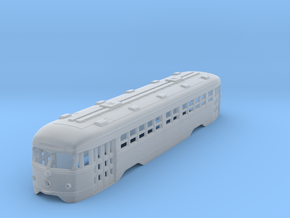 N Scale 1:160 MUNI Double-End PCC Body in Smooth Fine Detail Plastic