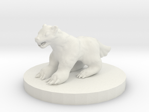 Wolverine Miniature in White Natural Versatile Plastic