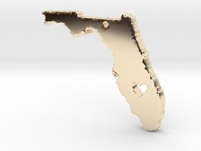 I love Florida Pendant in 14K Yellow Gold