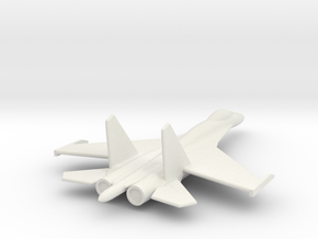 Su-27 Flanker B Russian Jet 1/285 scale in White Natural Versatile Plastic