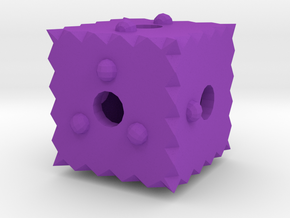 Dice37 in Purple Processed Versatile Plastic