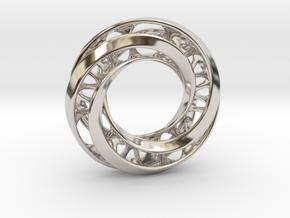 Mobius Ring Pendant v4 in Platinum