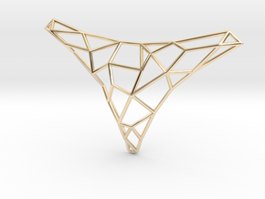 Polygon necklace in 14K Yellow Gold