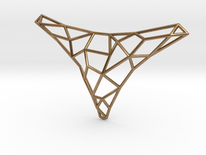 Polygon necklace in Natural Brass