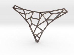 Polygon necklace in Polished Bronzed Silver Steel