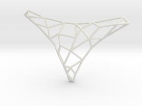 Polygon necklace in White Natural Versatile Plastic