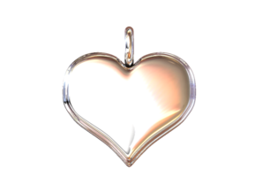 "Necklace Pendant ""HEART"" Basic in White Natural Versatile Plastic"