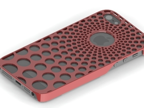 Iphone5 Cover Phi Spiral Bubble in Red Strong & Flexible Polished