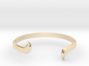 Thin Winged Cuff in 14K Yellow Gold
