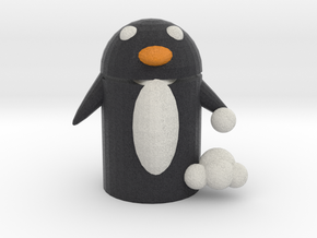 Snow Fighter Penguin  in Full Color Sandstone