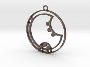 Zara - Necklace in Polished Bronzed Silver Steel