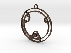 Zoey - Necklace in Polished Bronze Steel