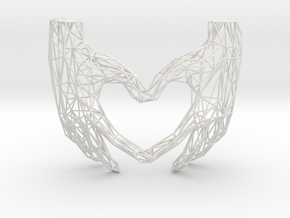 Heart Hands Wired in White Natural Versatile Plastic
