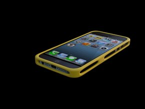 iphone 5 5s cover in Yellow Strong & Flexible Polished