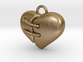 Cuore 15mm in Polished Gold Steel