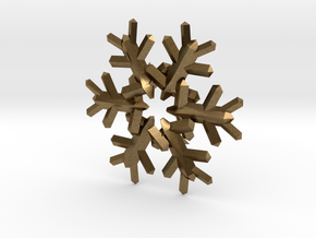 Snow Flake 6 Points E 4cm in Natural Bronze