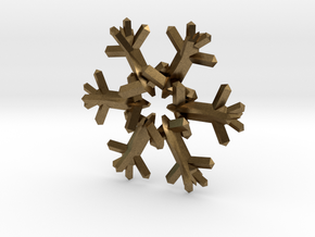 Snow Flake 6 Points D - 5cm in Natural Bronze