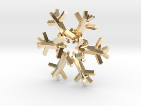 Snow Flake 6 Points D - 5cm in 14K Yellow Gold