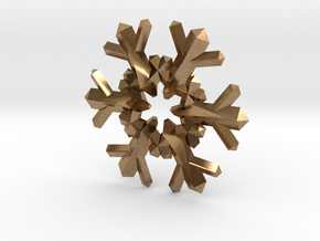Snow Flake 6 Points F - 4cm in Natural Brass