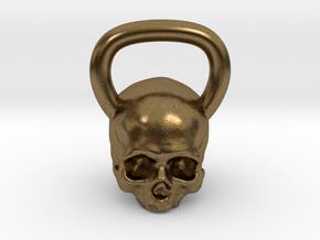 Kettlebell Skull in Natural Bronze