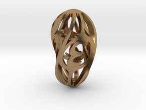 Twisty Spindle d4 in Natural Brass