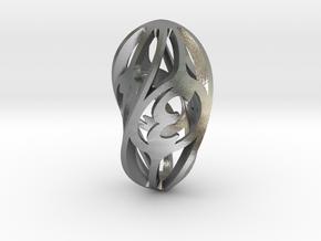 Twisty Spindle Die4 in Natural Silver