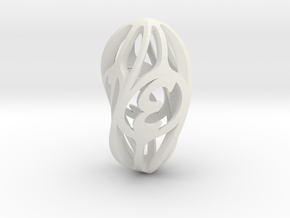 Twisty Spindle d4 in White Natural Versatile Plastic