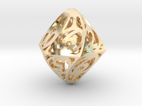 Twisty Spindle d12 in 14K Yellow Gold