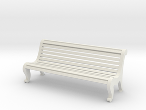 1:24 Park Bench with Back in White Strong & Flexible