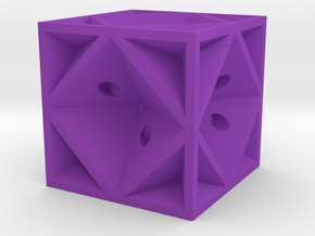 Dice42 in Purple Processed Versatile Plastic