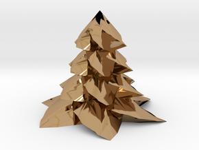 Christmas tree - Sapin De Noel in Polished Brass