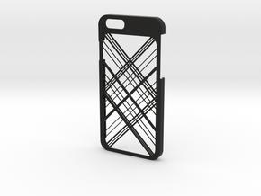 iPhone 6 case - Abstarct Lines in Black Natural Versatile Plastic