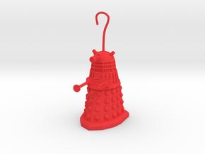 ChristmasDalek01 in Red Processed Versatile Plastic