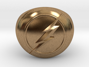 Flash Ring Size US14 in Natural Brass