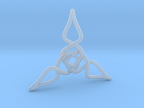 Triquetra Pendant 1 in Smooth Fine Detail Plastic