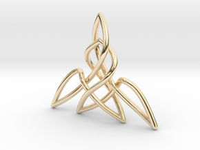 Triquetra Pendant 2 in 14K Yellow Gold