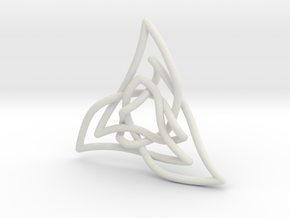 Triquetra 3 in White Natural Versatile Plastic